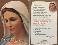 Medjugorje Prayer Card