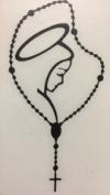 Our Lady and Rosary Decal